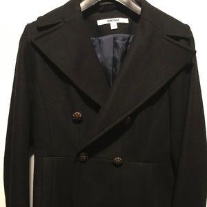 DKNY size 4 black pea coat